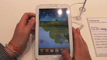 Anteprima Samsung Note 8.0 - Mobile World Congress 2013