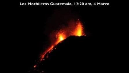 Spettacolare eruzione del Volcan de Fuego in Guatemala
