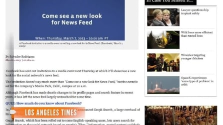 Facebook: in arrivo il nuovo News Feed