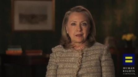 Hillary Clinton a favore dei matrimoni gay