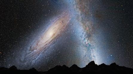 Simulazione della fusione tra la Via Lattea e Andromeda
