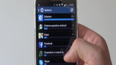 Test durata della batteria Samsung Galaxy S4