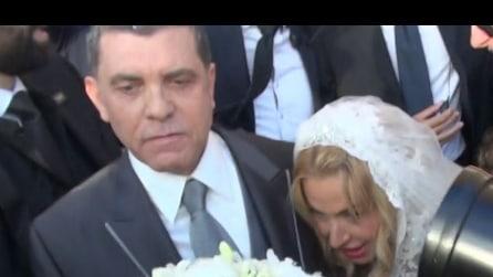 Le nozze di Valeria Marini tra vip, pizzi e telecamere (INTERVISTE)