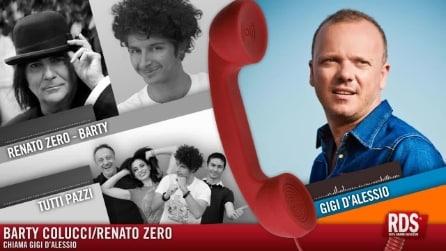 Renato Zero chiama Gigi D Alessio per il regalo a Valeria Marini (ma è uno scherzo)