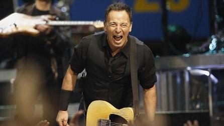 Springsteen al concerto di Napoli a piazza del Plebiscito