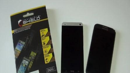 Zagg InvisibleShield: pellicole per HTC One e Galaxy S4