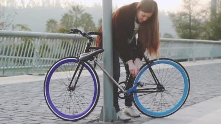 La futuristica bici che diventa impossibile da rubare