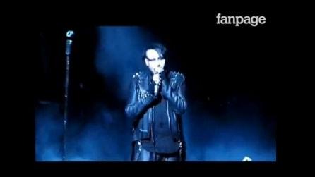 Marilyn Manson a Los Angeles fa una dedica a Paris Jackson