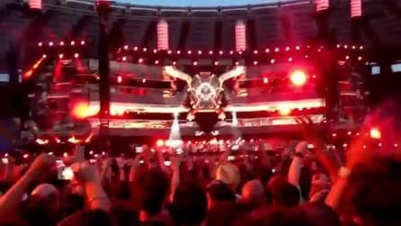 Lo spettacolo del palco dei Muse all'Olimpico di Roma