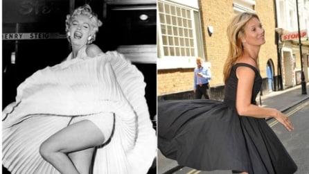 Kate Moss come Marilyn Monroe: vestito alzato dal vento