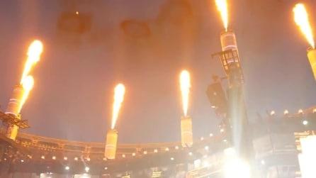 Tangenti per le esplosioni di fuoco dalle ciminiere al concerto dei Muse?