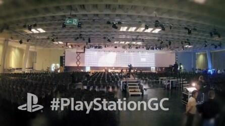I preparativi per la conferenza Sony alla Gamescom 2013 #gamescom