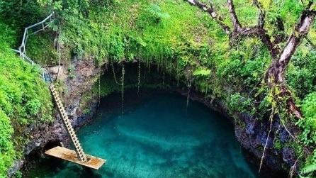 """Spettacolare """"piscina"""" naturale a Lotofaga, impossibile non tuffarvisi"""