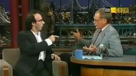 Benigni al Letterman Show