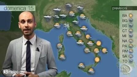 Previsioni meteo del 15 settembre 2013