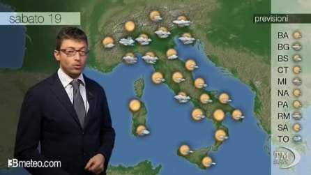 Previsioni meteo di sabato 19 ottobre