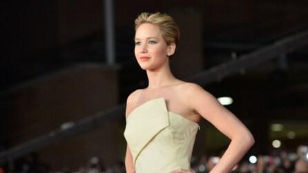 """Jennifer Lawrence infiamma il red carpet del Film Festival di Roma con """"Hunger Games: la ragazza di fuoco"""""""