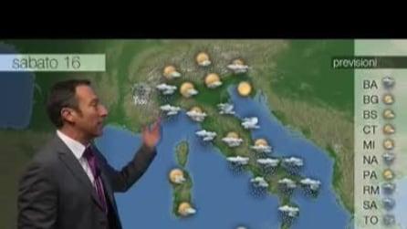 Previsioni meteo per sabato, 16 Novembre