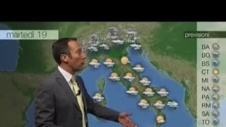 Previsioni meteo per martedì, 19 Novembre