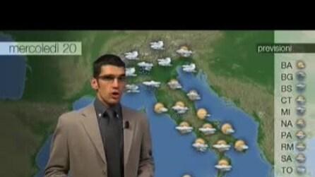 Previsioni meteo per mercoledì, 20 Novembre