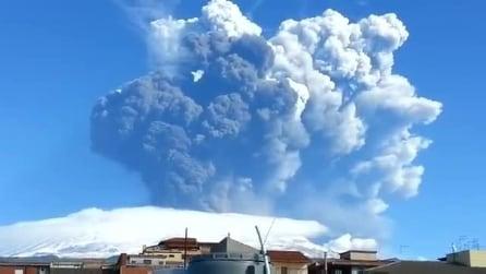 L'ultima spettacolare eruzione dell'Etna