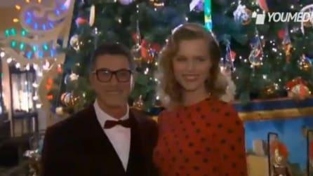 Eva Herzigova a Londra per inaugurazione albero Natale Dolce e Gabbana