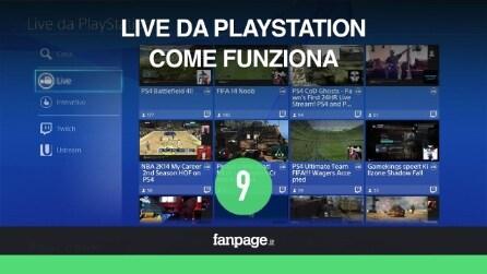 PS4: Live da PlayStation, come funziona