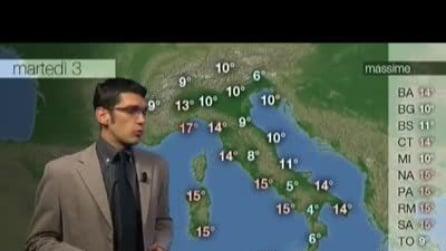 Previsioni meteo per martedì, 03 Dicembre