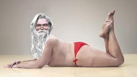Da bionda sexy a Babbo Natale in pochi secondi