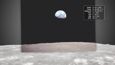 """Nasa, """"Earth rise"""" il fantastico viaggio sulla luna dell'Apollo 8"""