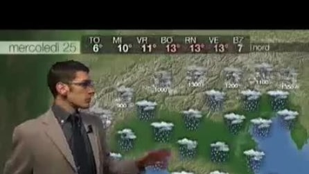 Previsioni meteo per mercoledì, 25 Dicembre