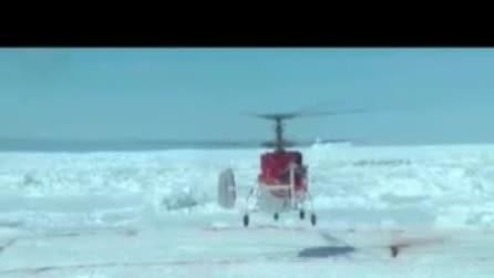 Elicottero cinese raggiunge nave bloccata in Antartide