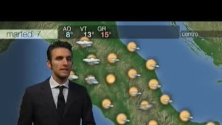 Previsioni meteo per martedì, 7 gennaio