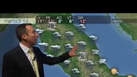 Previsioni meteo per martedì, 14 gennaio