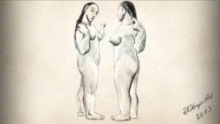 Pablo Picasso Two Nudes 1906 sketch Art by KolonjArt