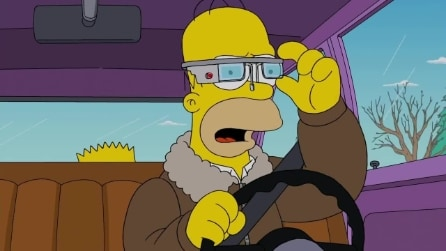 I Simpsons con i Google Glass: Specs And The City promo