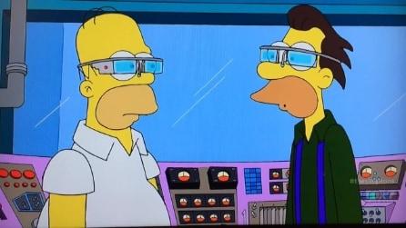 Homer Simpson prova i Google Glass