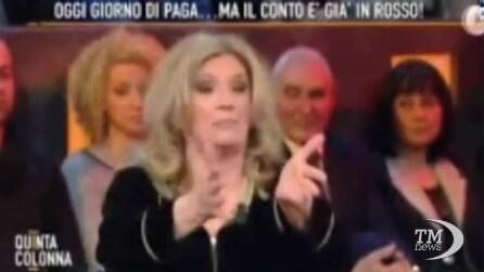 """La Zanicchi: """"Paghiamo i politici, ma se sbagliano gli diamo fuoco"""""""