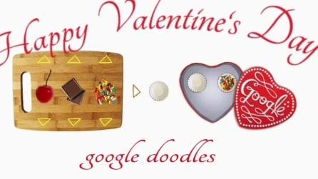 Il doodle di Google per San Valentino