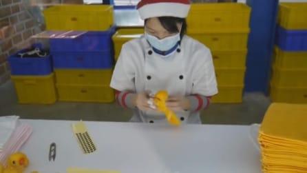 Fare delle simpatiche paperelle con dei tovaglioli
