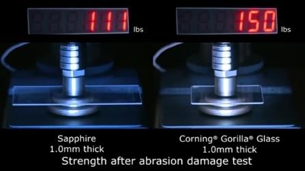 Gorilla Glass vs zaffiro - il test di Corning