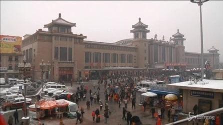 Cina, traffico in tilt per la prima neve dell'anno