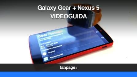 Galaxy Gear con Nexus 5 - la videoguida