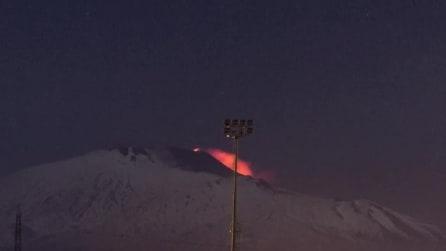 Fantastico timelapse dell'ultima eruzione dell'Etna