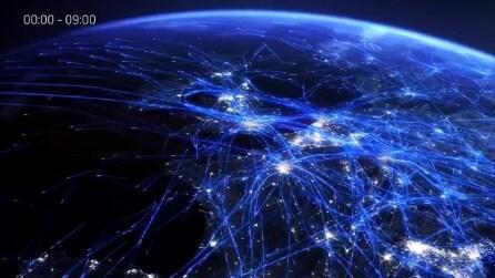 Ecco la mappa del traffico aero in Europa nelle ultime 24 ore