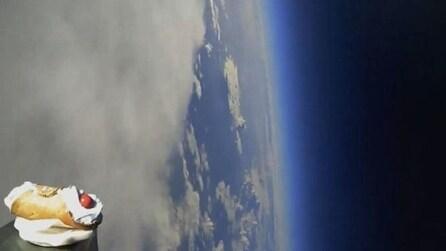 L'impresa di 3 ragazzi siciliani: il lancio di un cannolo nello spazio