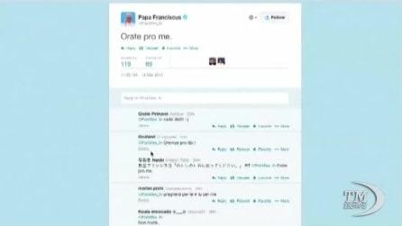 In un anno, il Papa raggiunge su twitter 12,5 di followers
