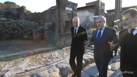 Pompei, Tajani visita il sito archeologico: Visti più semplice per turisti extra Ue