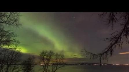 Le magiche sfumature dell'aurora boreale