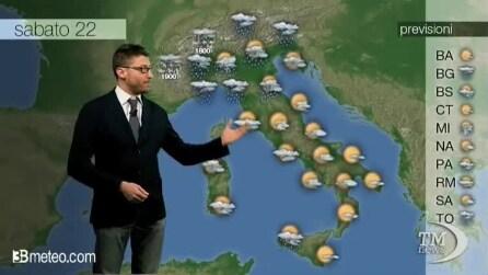Previsioni meteo per sabato, 22 Marzo